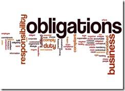 Obligations word cloud